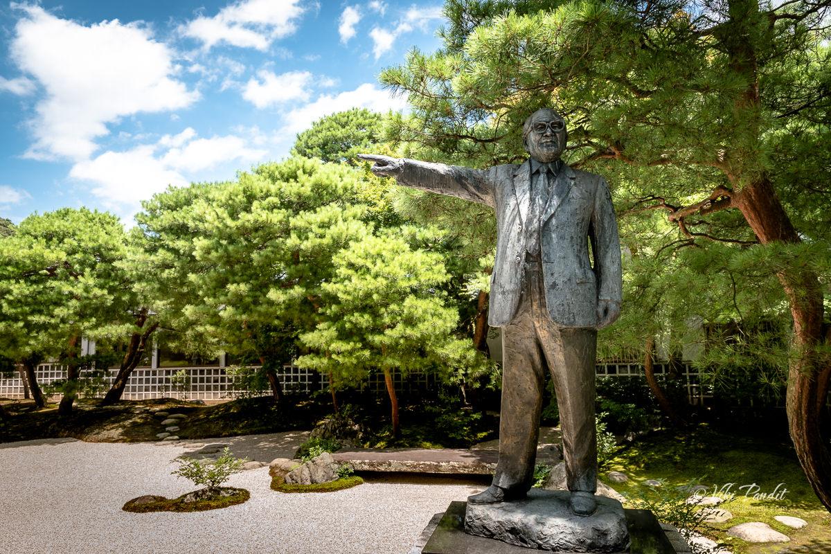 Bronze statue of Zenko Adachi