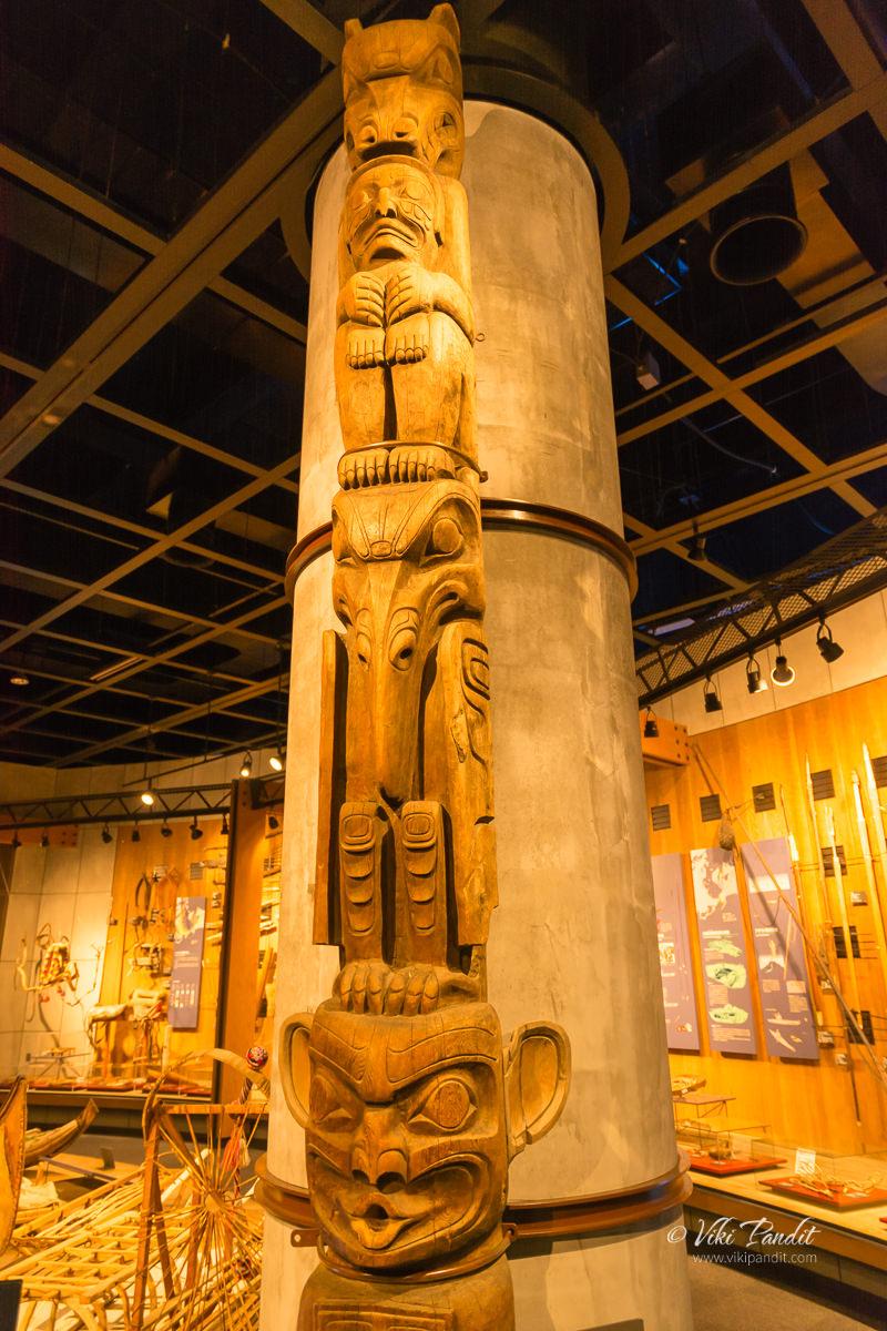 Totem Pole of Northwest Coast Indians