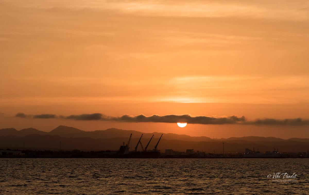 Sunset at Aomori Bay
