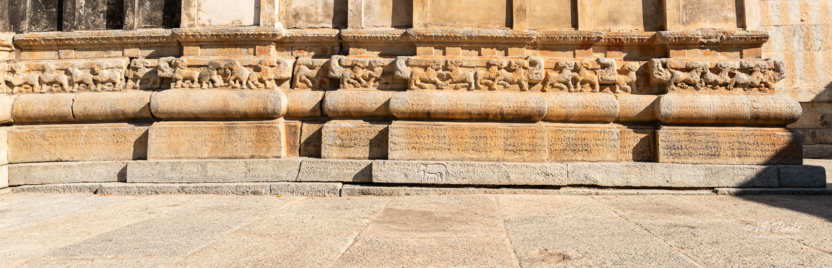 Inscriptions on the lower sections of the Ramalingeshwara Temple