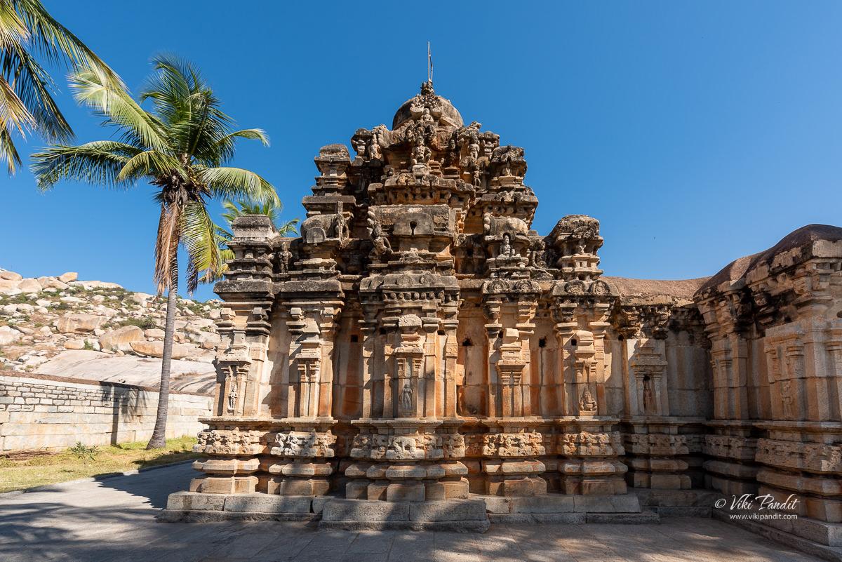 Exterior walls towards the back of the Lakshamanalingeshwara Temple