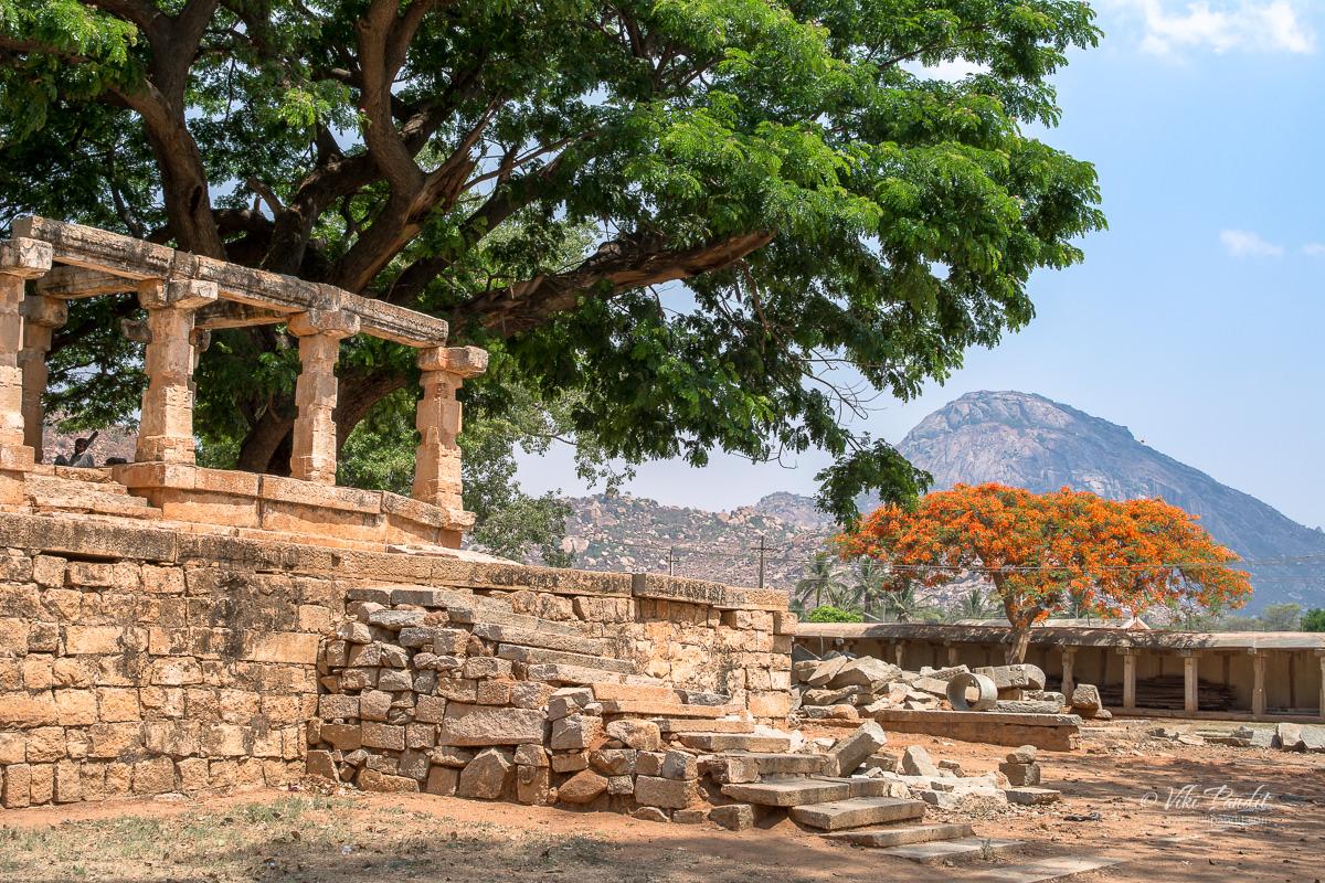 A podium in the courtyard of Bhoga Nandishwara Temple