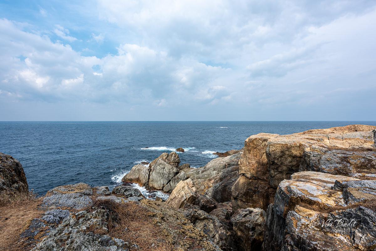 Cliffs along Cape Hino