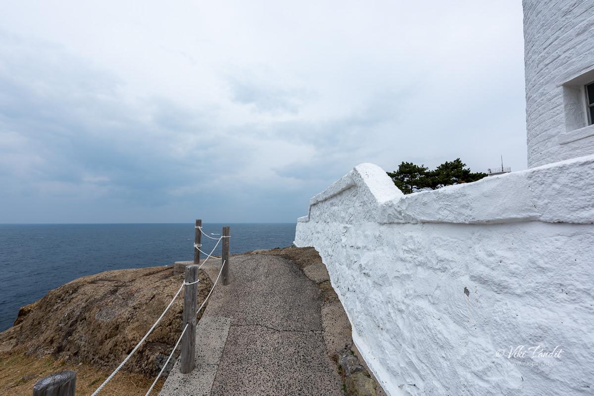 Hinomisaki Lighthouse boundary wall
