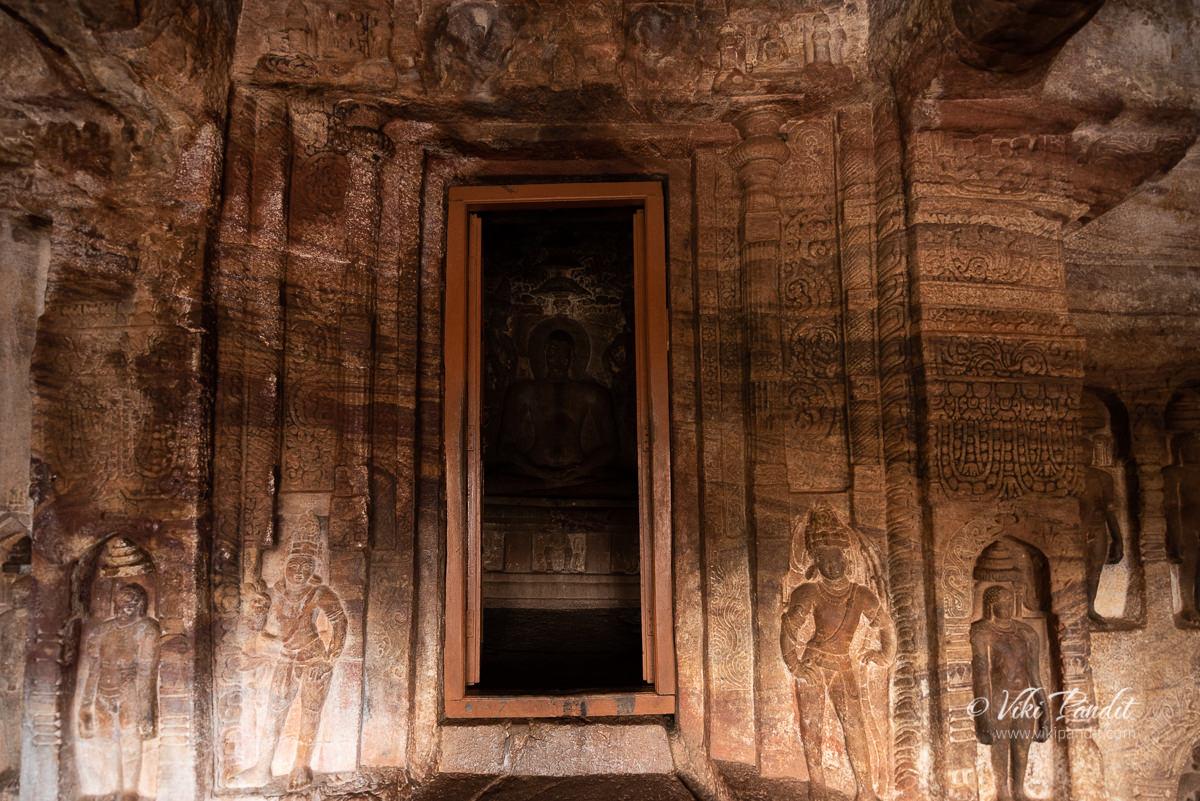 The main deity of Buddha inside Cave Temple 4