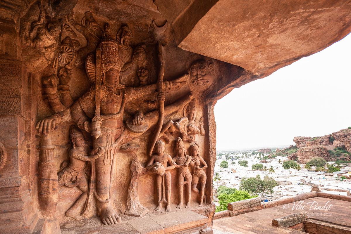 Vishnu in the Vamana Avatar at Cave Temple 3