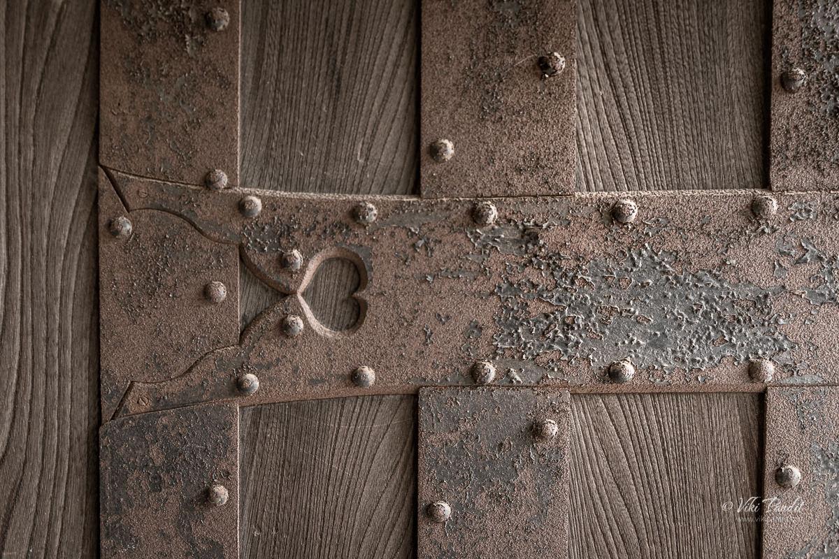Metal work on the Fukuyama Castle Gate