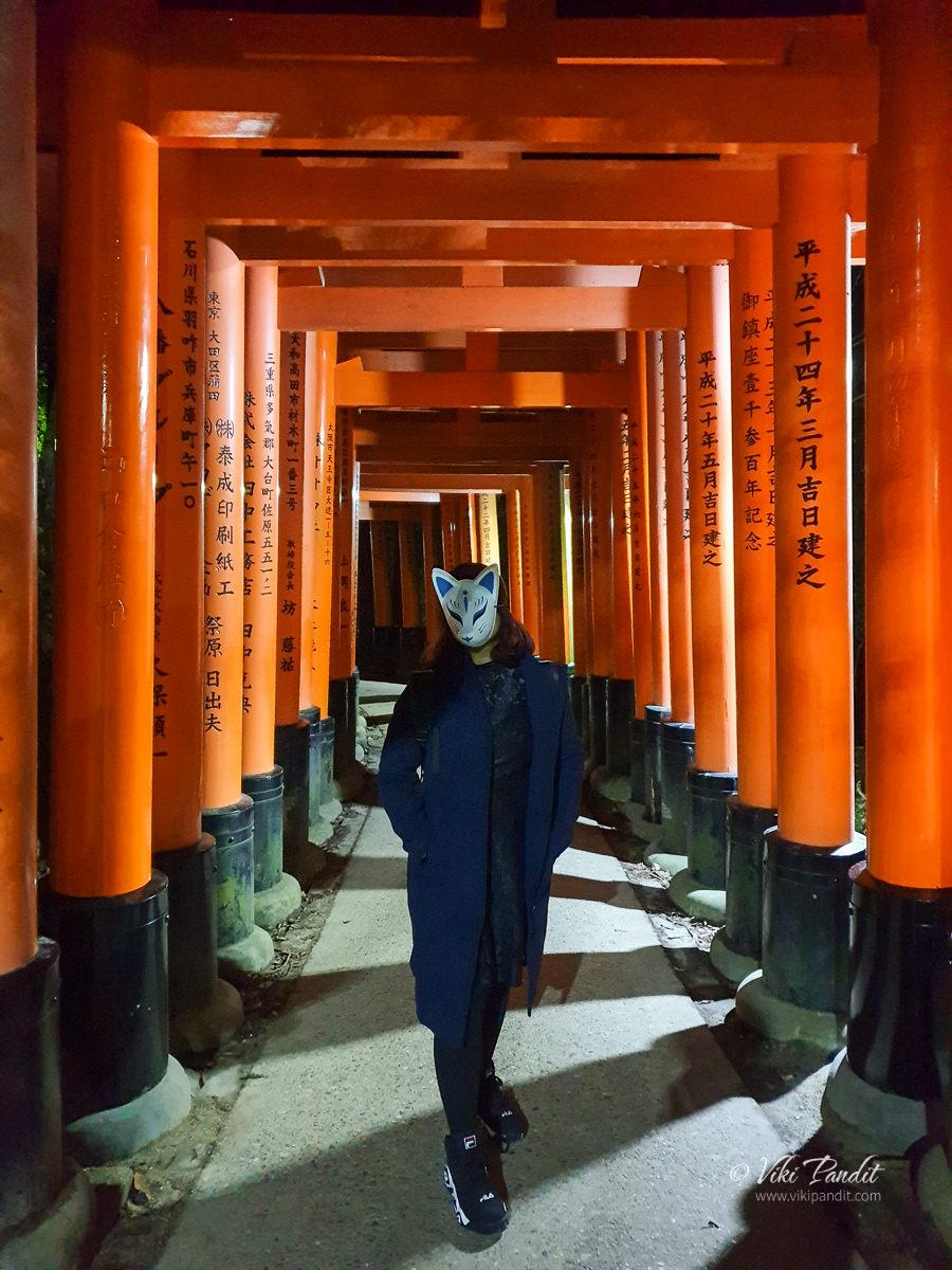 Ranita at Fushimi Inari Taisha Senbontorii