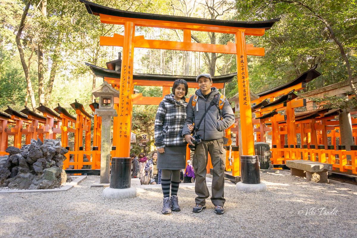 Viki at Fushimi Inari Taisha