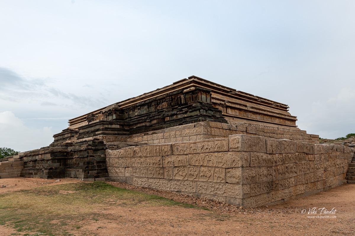 Base of the Mahanavami Dibba in Hampi