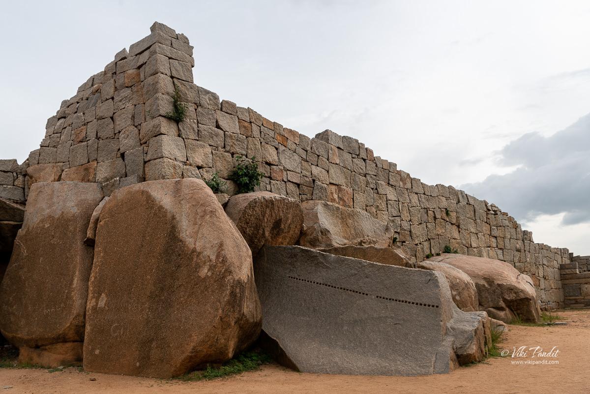 Compound wall surrounding Royal Enclosure