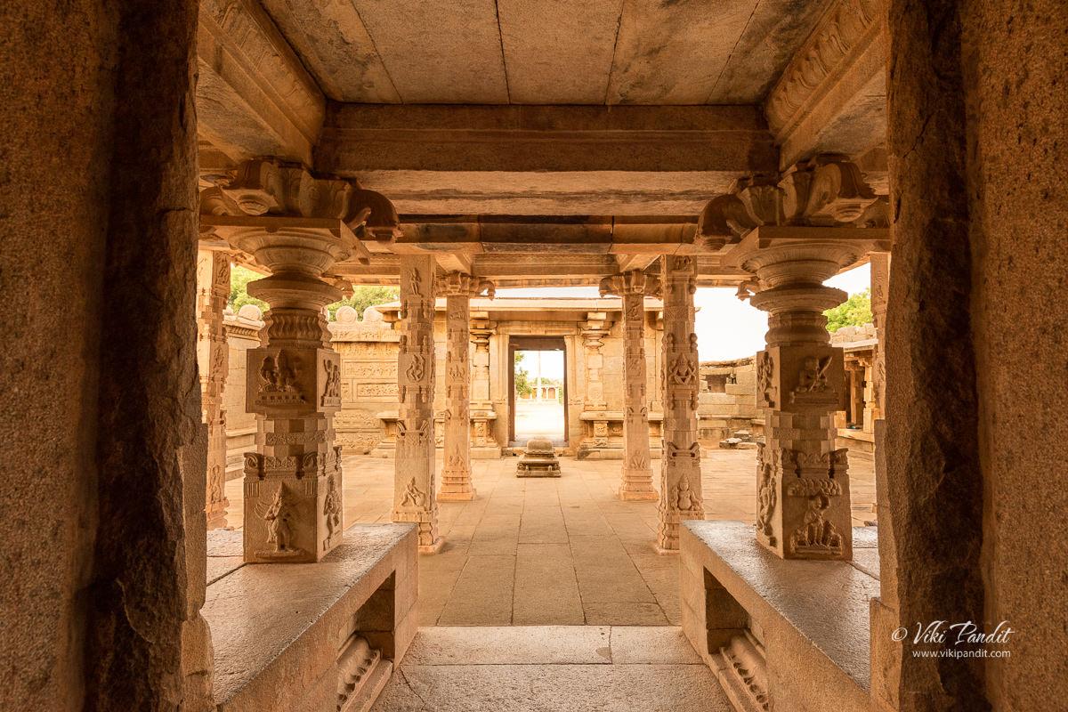 Interiors of Hazar Rama Temple