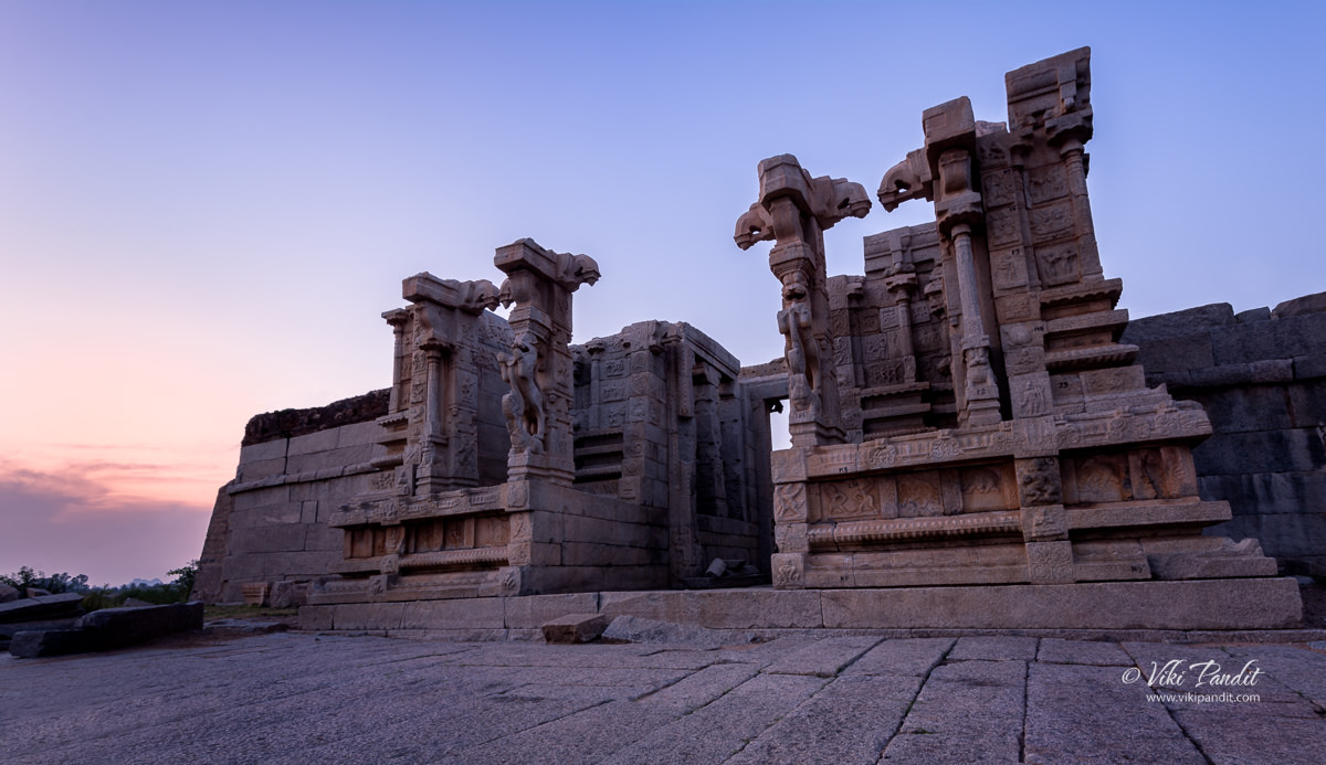 Ruins of an ancient Shiva Temple in Hampi