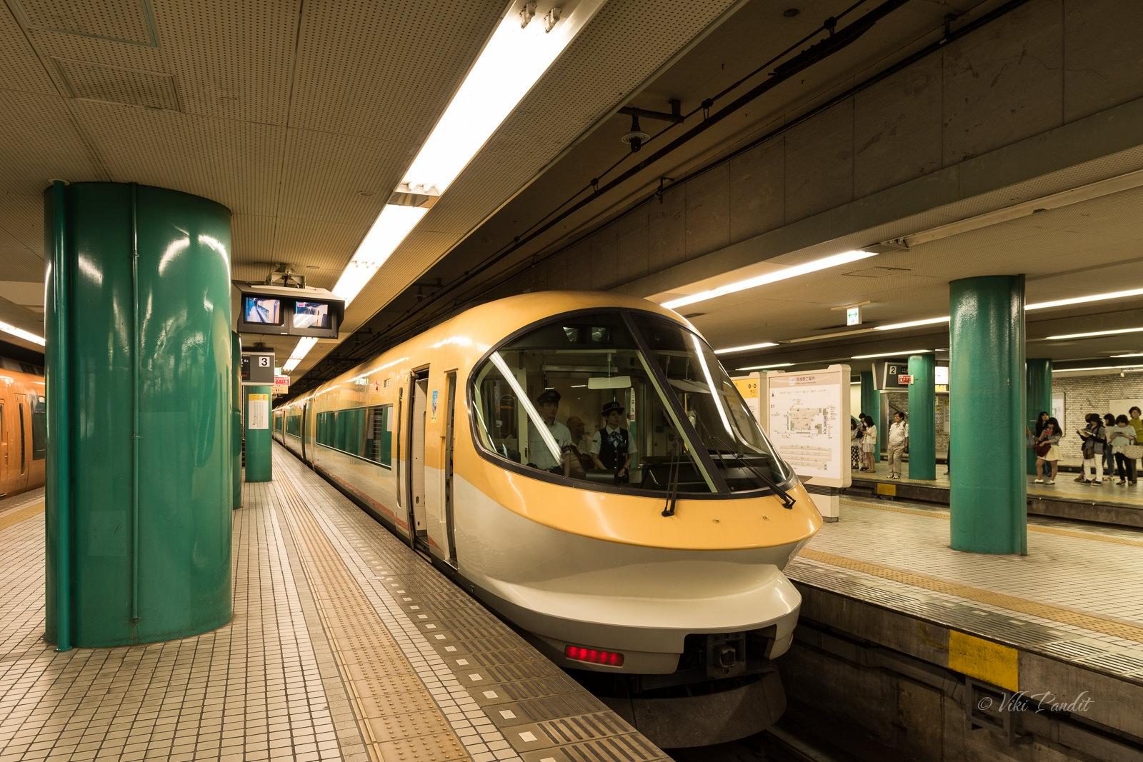 Train from Kintetsu Nara Station