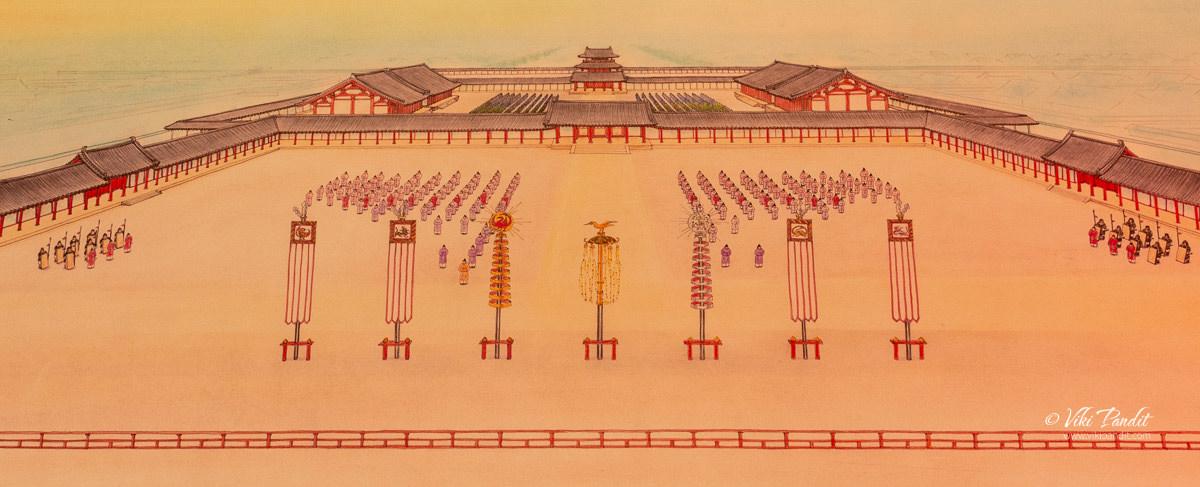 A representation of the original Heijo Palace