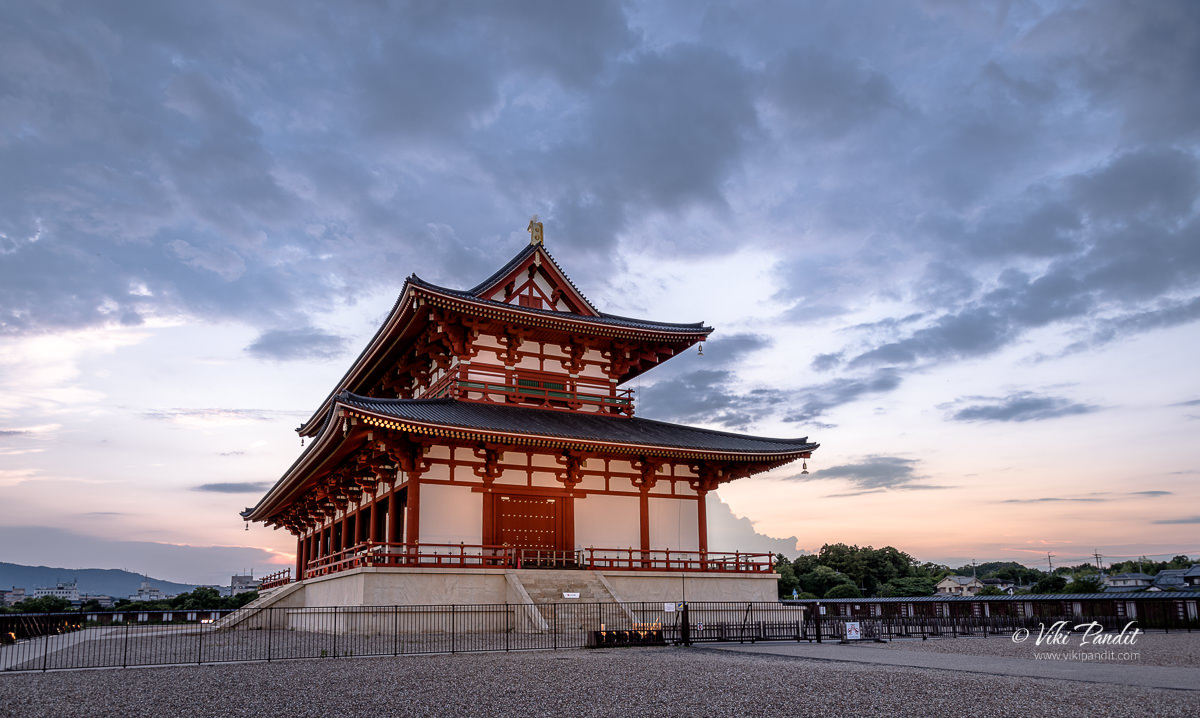 Daigokuden Hall at Heijo Palace Grounds in the Evening