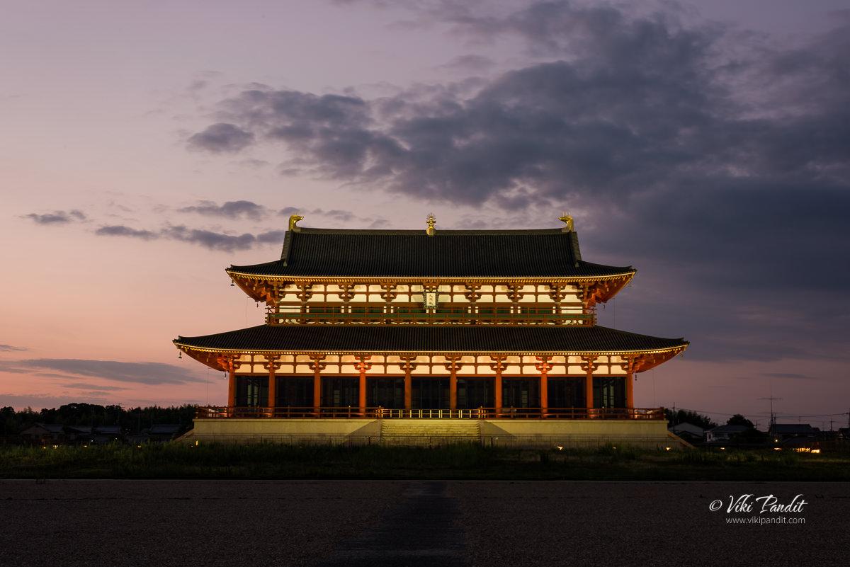 Daigokuden Hall  at Dusk