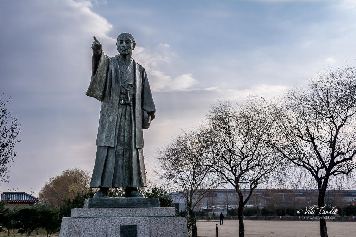 Statue of Kajuro Tanada at Heijo Palace