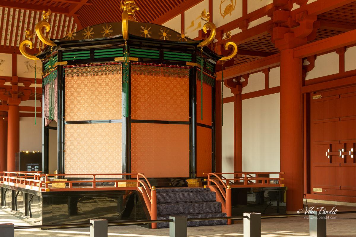 Takamikura Throne inside the Heijo Palace Audience Hall