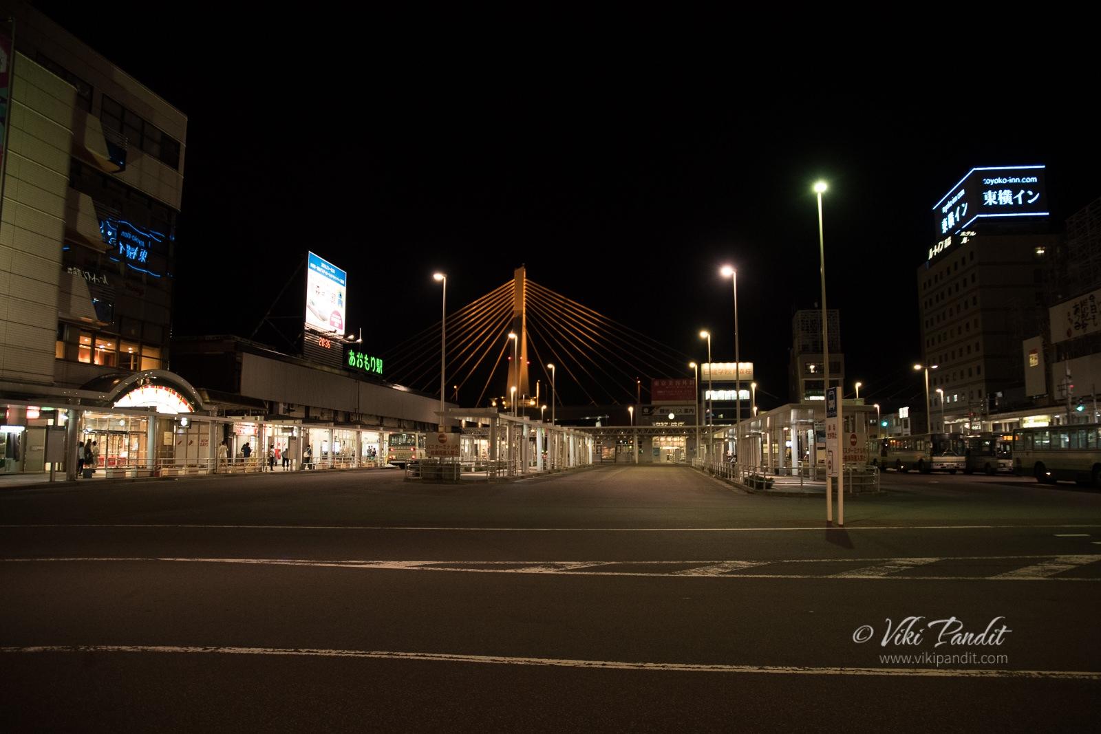 Aomori Station at Night