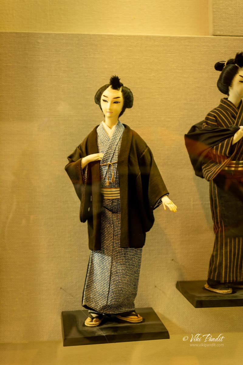 Dolls on display at the Ninja Museum of Iga-Ryu