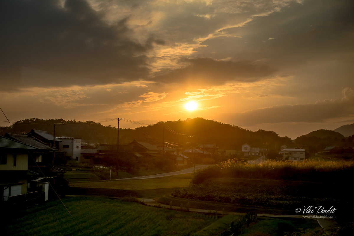 Sunset over Iga