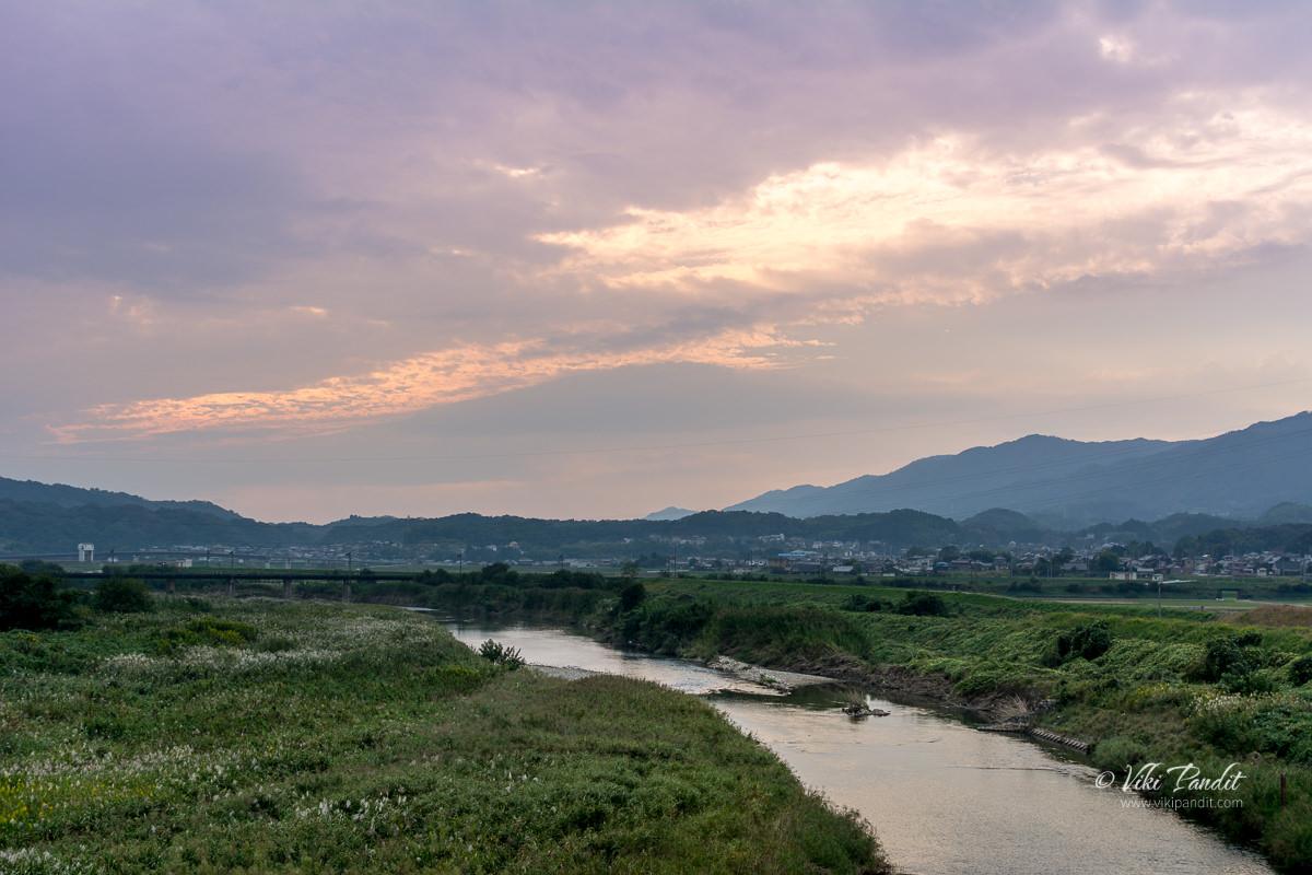 Evening over Hattori River