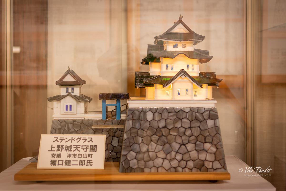 Miniature model of Iga Ueno Castle