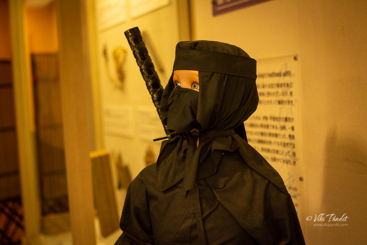 Mannequin dresses as a Ninga at Ninja Museum of Iga-Ryu