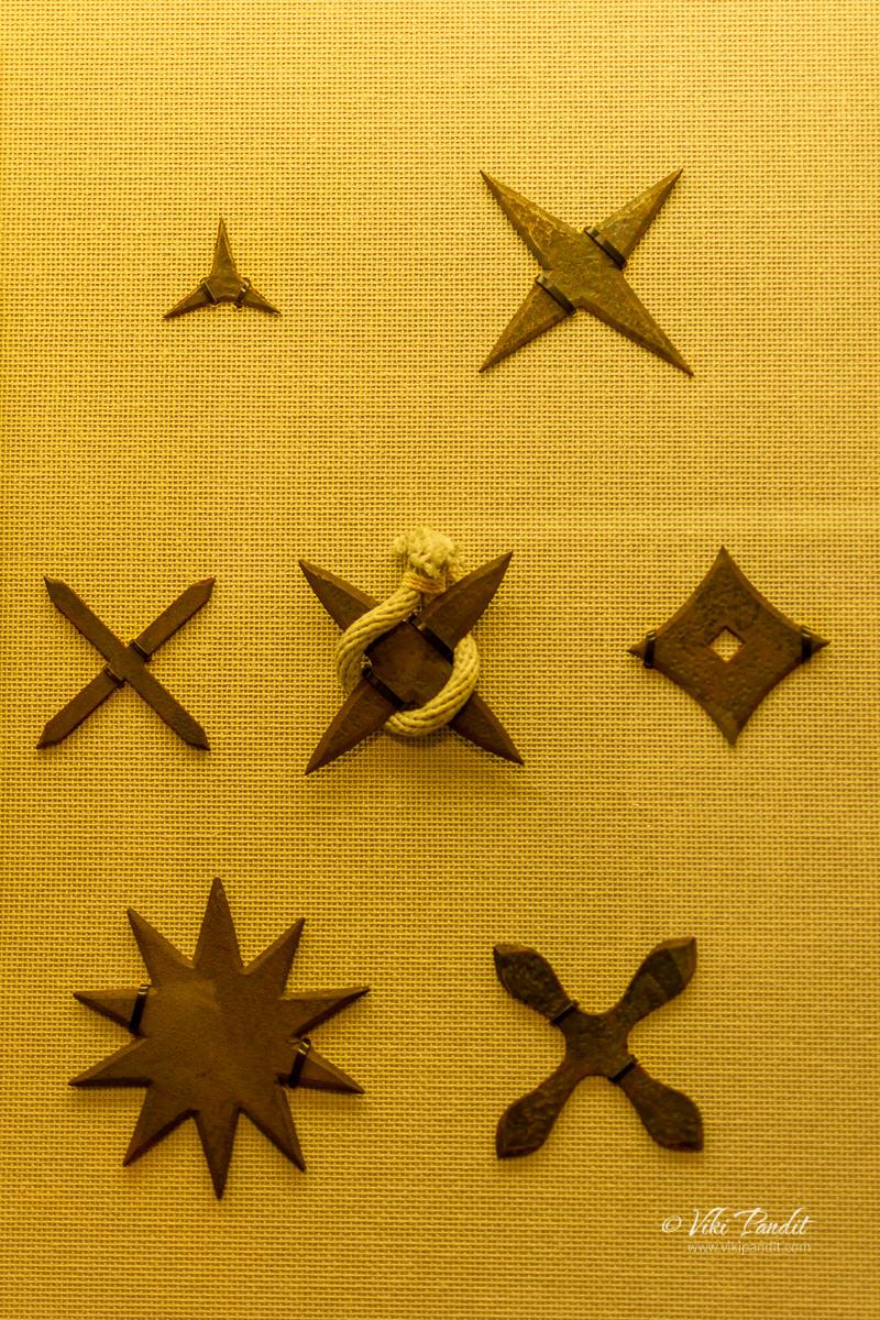Ninja weapons on display at Ninja Museum of Iga-Ryu