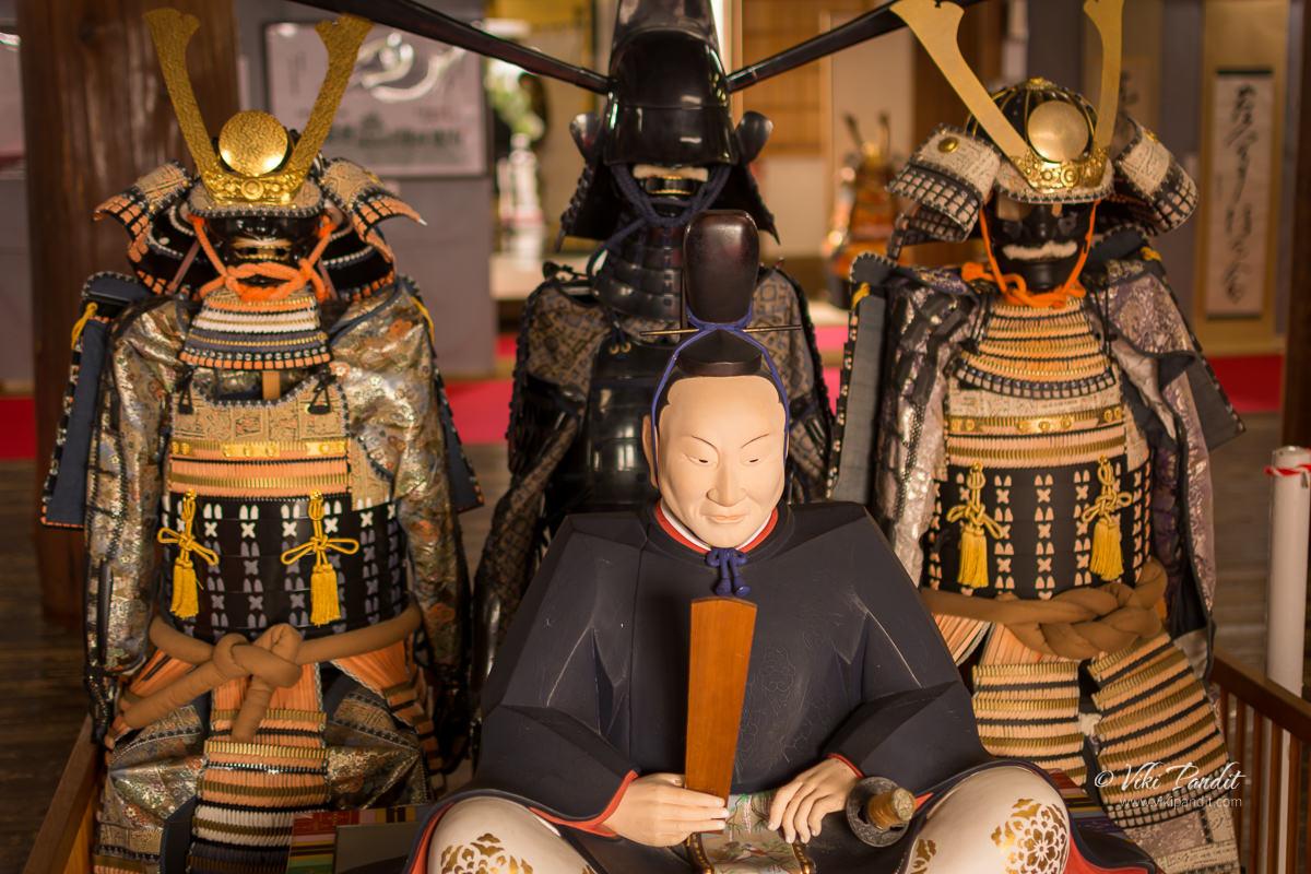 Samurai armor on display at Iga Ueno Castle