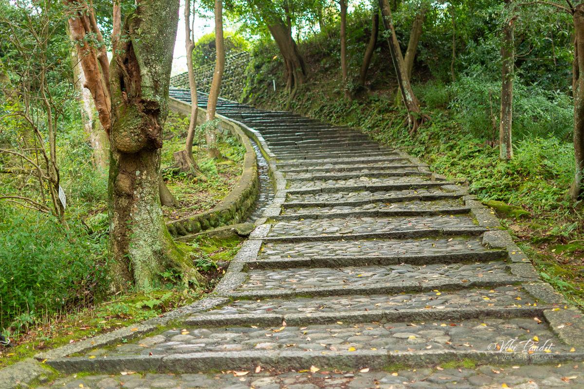 Stone stairs to Iga Ueno Castle