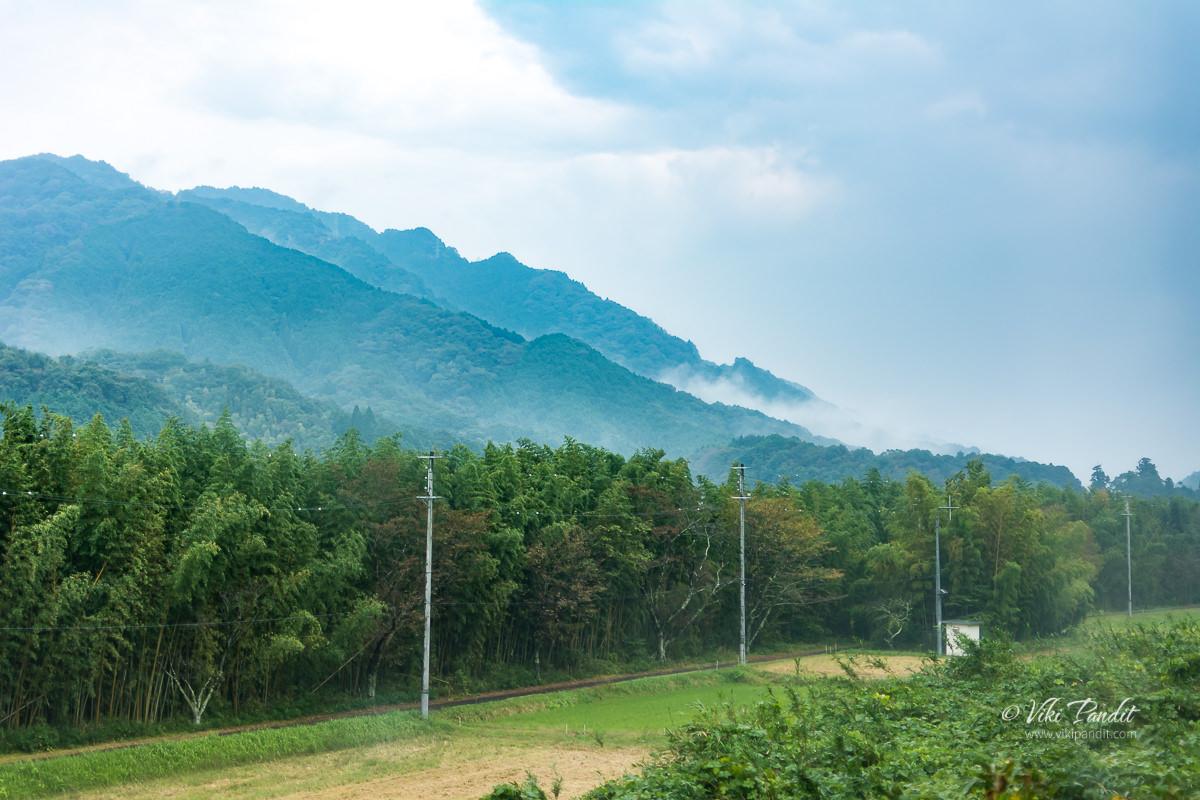 Mountains surrounding Iga Ueno