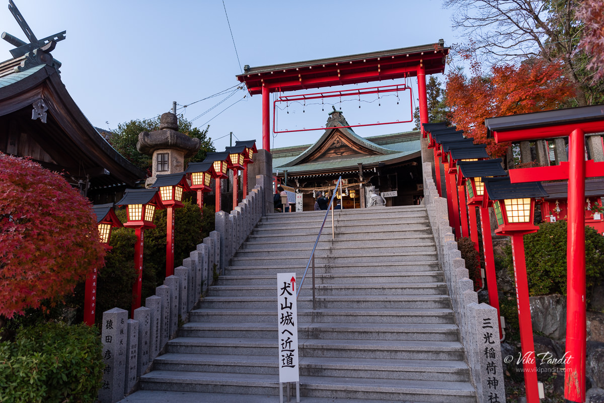Stairs to Sankoinari Shrine