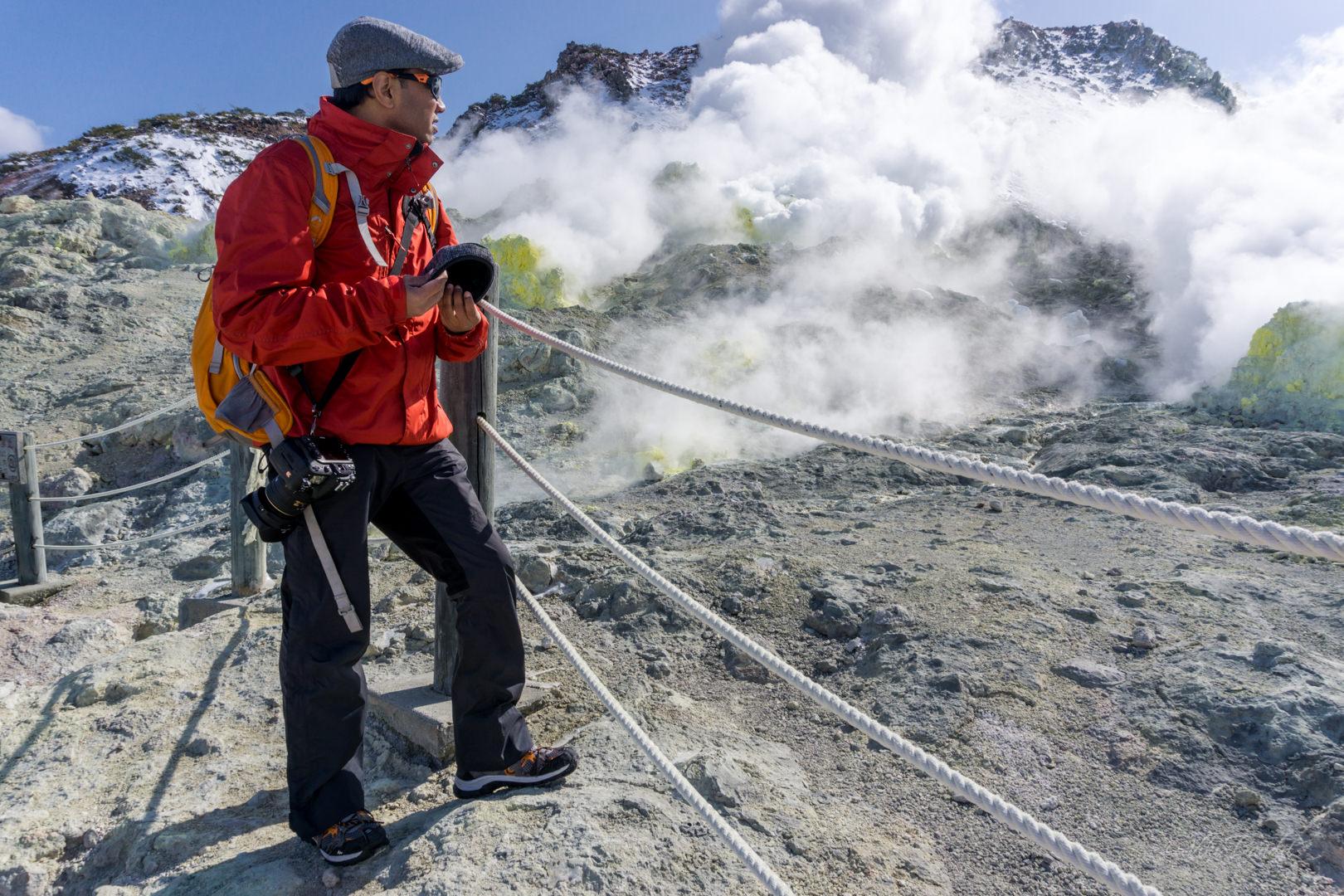 The fuming Sulphur vents on Iozan