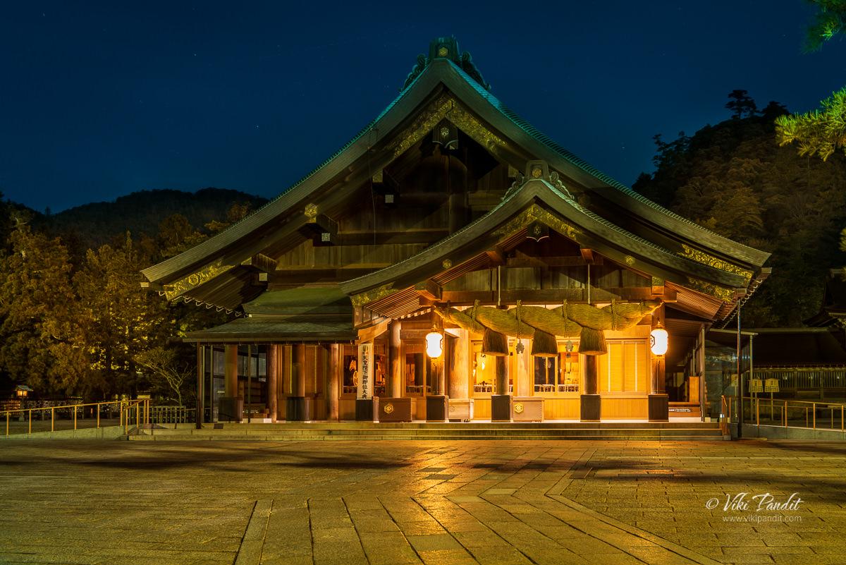Izumo Taisha Honden at Night