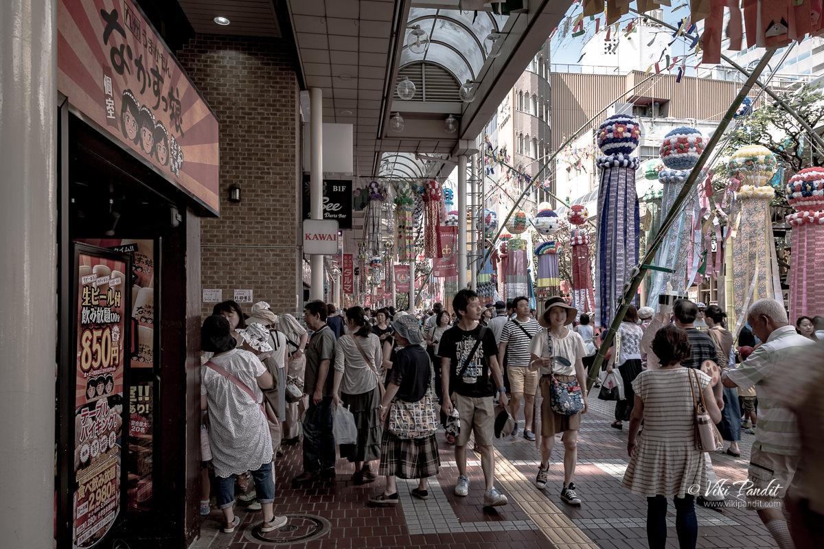 Crowds at Jozenji-dori during Tanabata