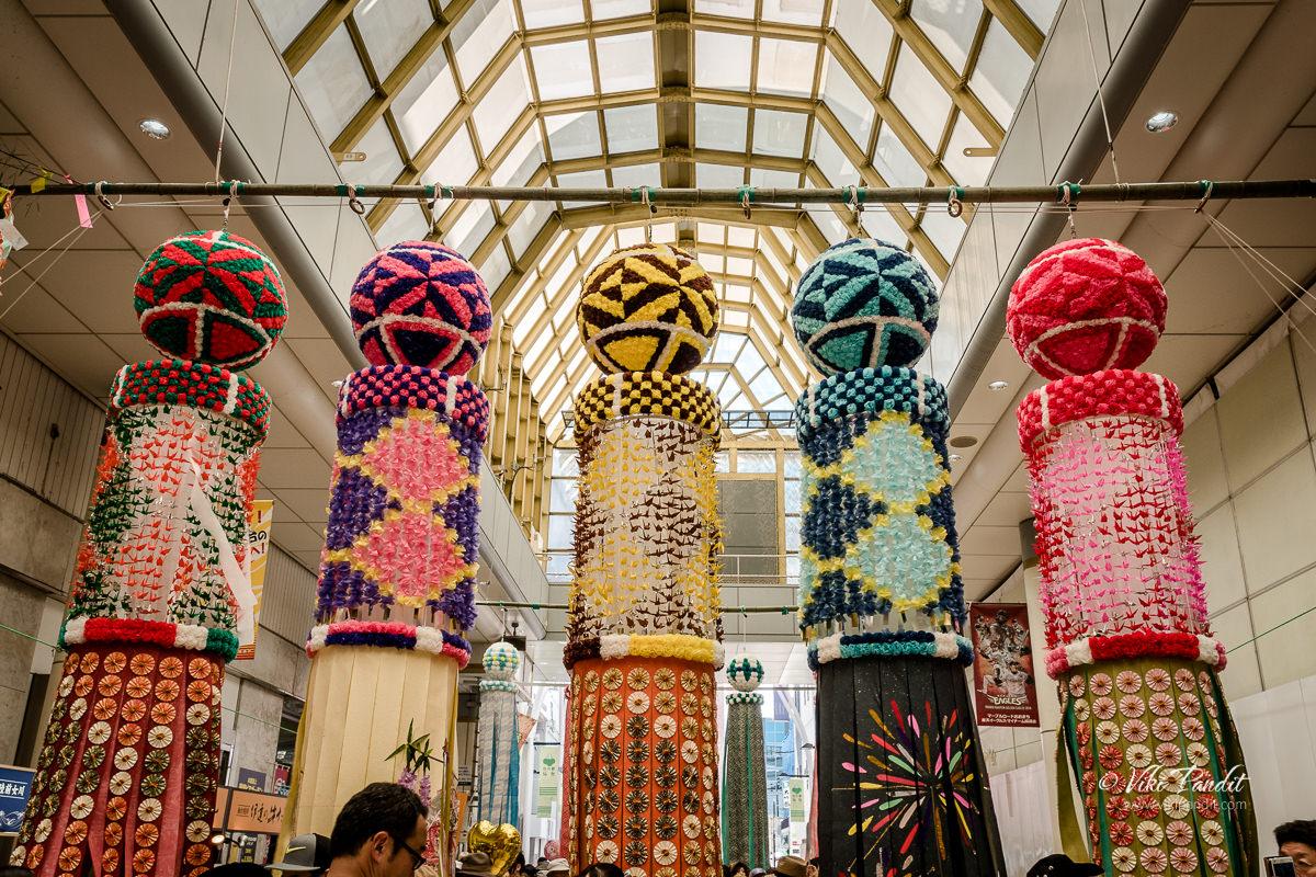 Tanabata decorations at Jozenji-dori