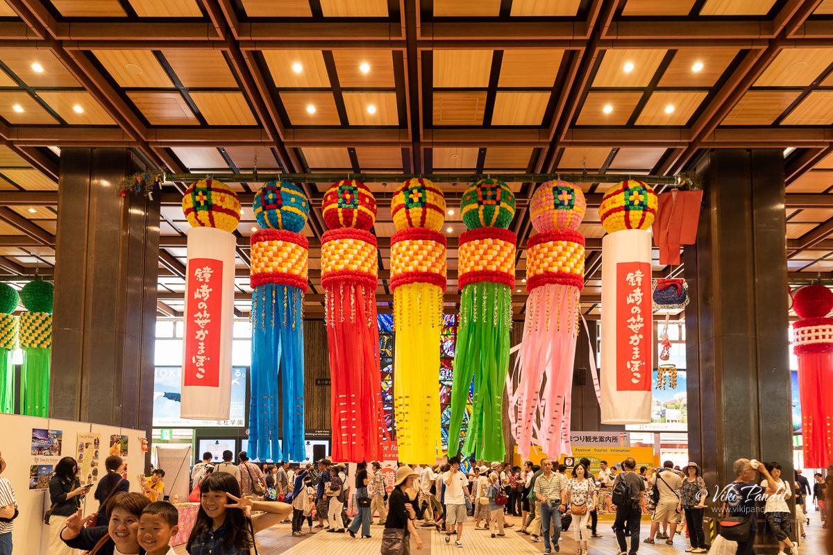 Tanabata decorations at Sendai Station