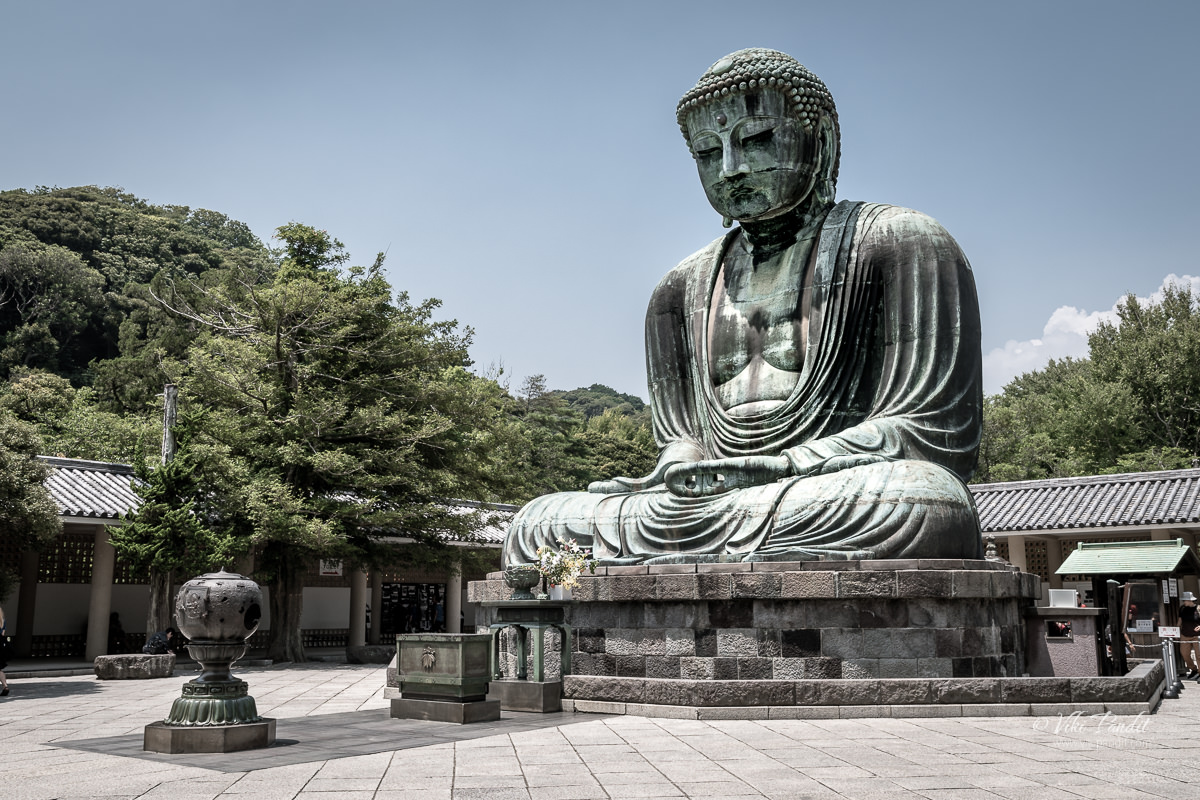 Bronze statue of Amitābha Buddha at the Kōtoku-in Temple