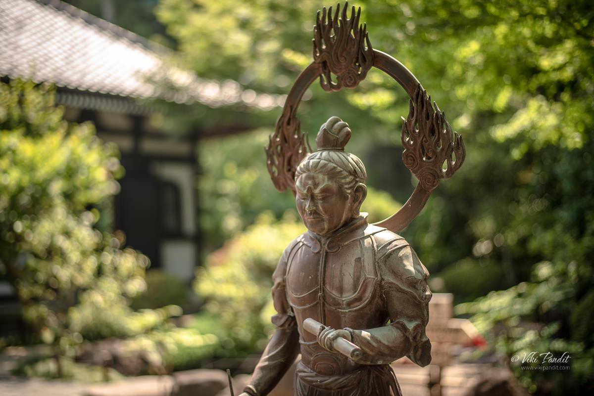 Bronze sculptures at Hasedera