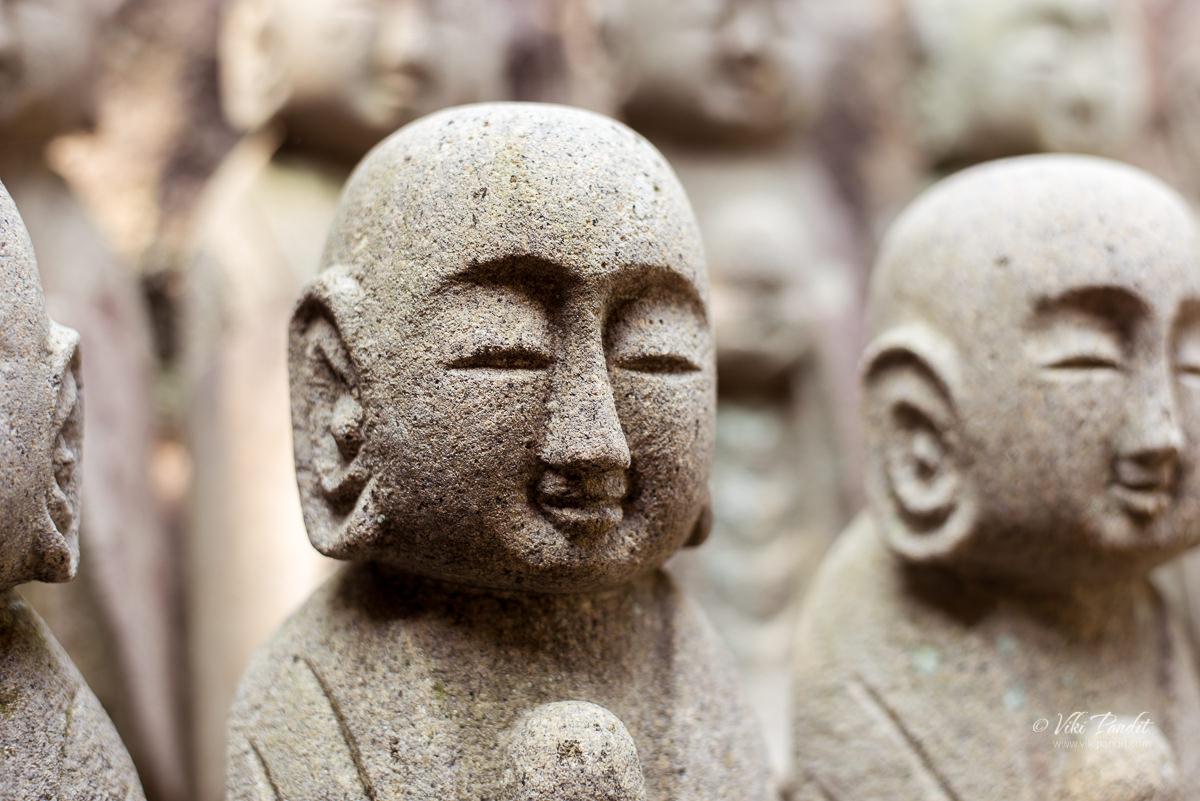 Stone sculptures of Jizo at Hasedera