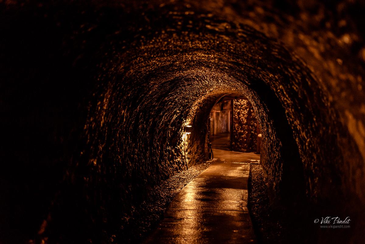 Tunnels inside Benten Kutsu Cave in Hasedera