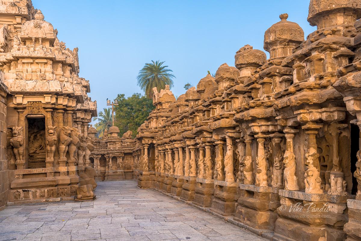 Corridors of the Kanchi Kailasanathar Temple