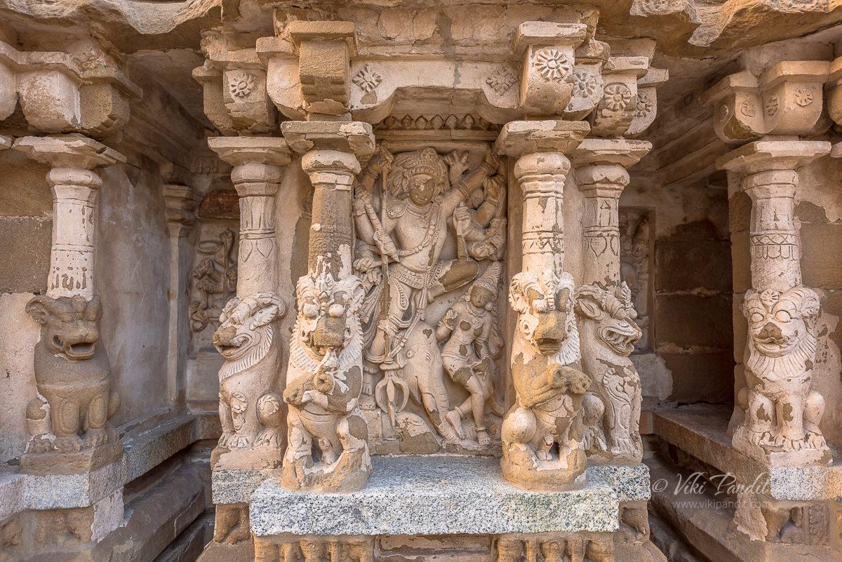 Shiva Avatars at Kanchi Kailasanathar Temple