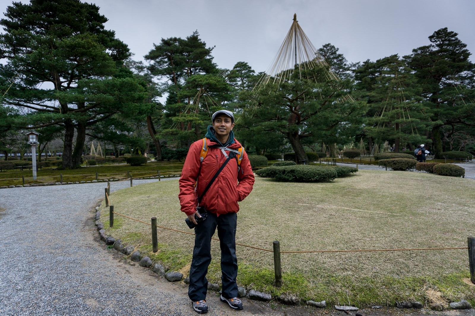 Viki at Kenrokuen Garden