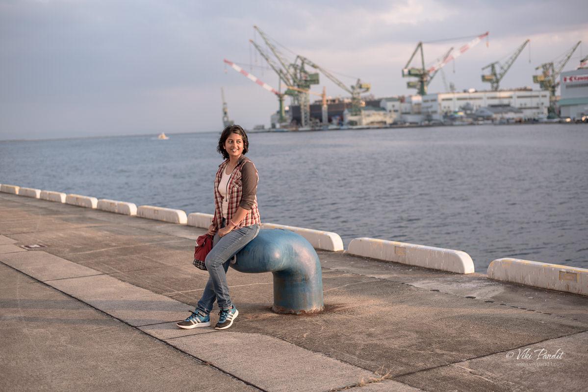 Mani at Kobe Harbor