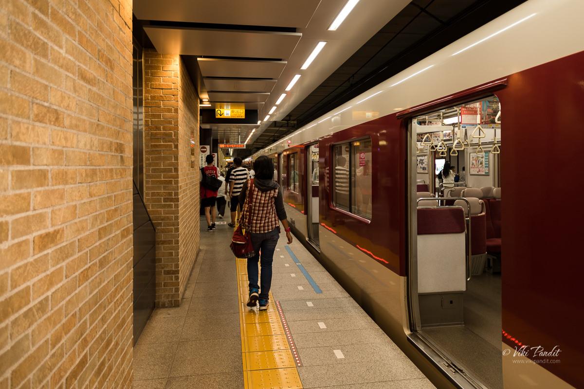 Nara to Kobe Kintetsu Train