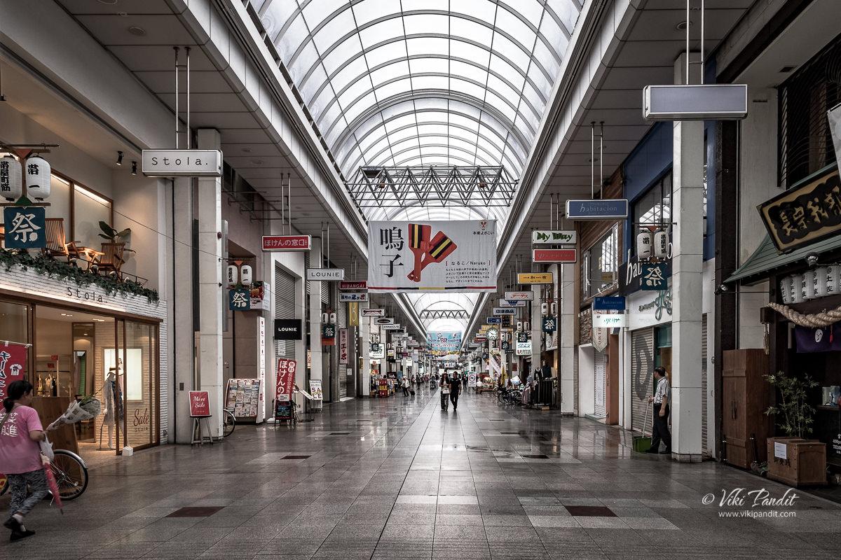 Shopping street in Obiyamachi