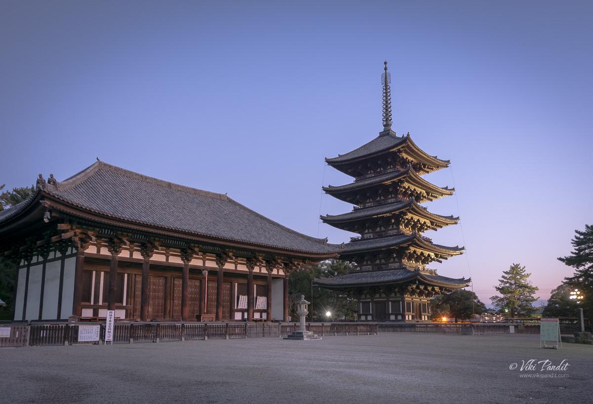 Kofuku-ji Pagoda at Dusk